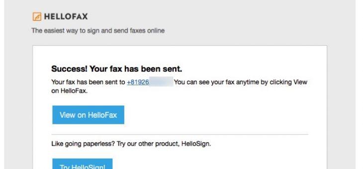 Fax機器や電話回線がなくても送れたよ〜