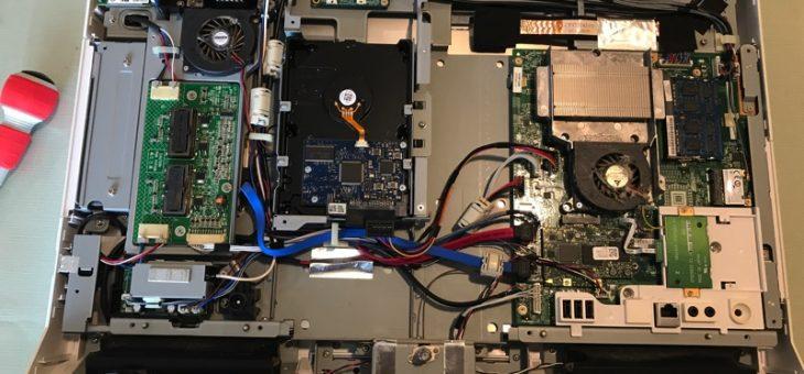 パソコンが点滅する